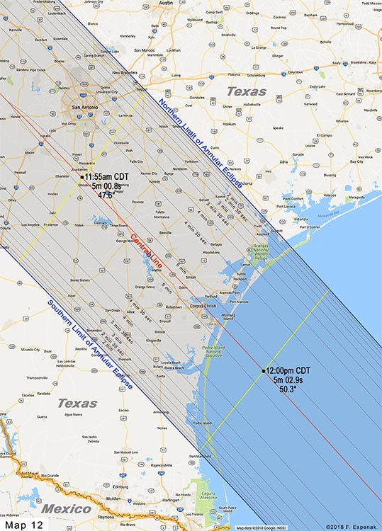 Road Atlas For The Annular Solar Eclipse Of 2023