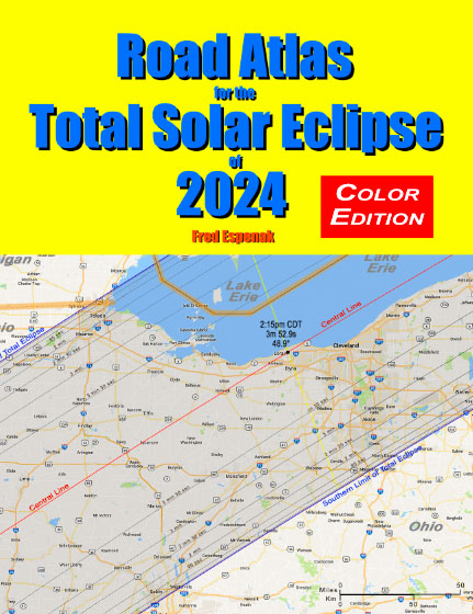 2017 Eclipse Usa Map.Road Atlas For The Total Solar Eclipse Of 2024
